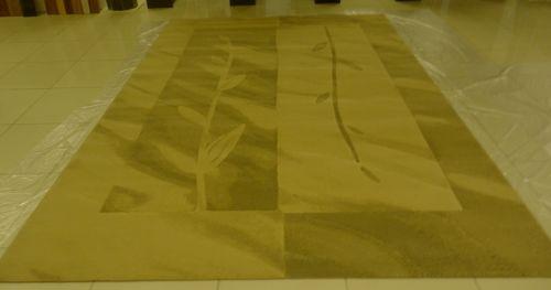 ковер с листьями